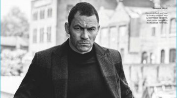 Dominic West Embraces Classic Styles for British GQ Style Shoot