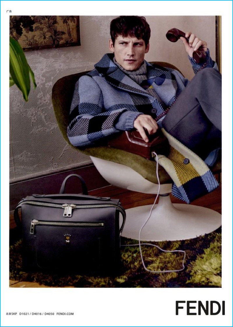 Model Roch Barbot stars in Fendi's fall-winter 2016 advertising campaign.