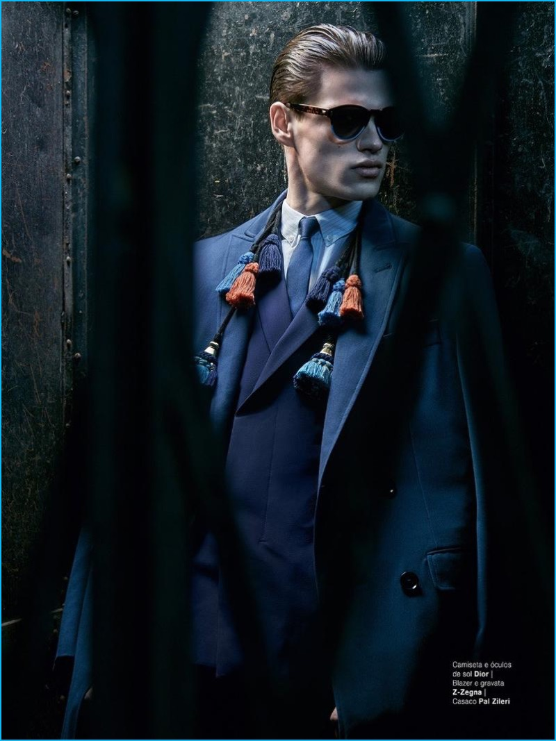 Filip Hrivnak plays it cool in a sartorial look featuring Dior Homme, Z Zegna, and Pal Zileri for GQ Brasil.