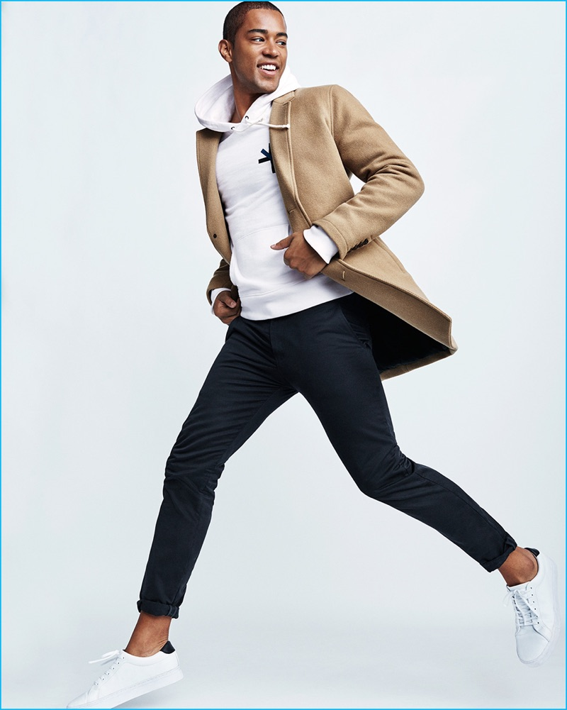 Shayne Cureton wears Saturdays NYC for Gap x GQ Best New Menswear Designers in America All-Stars collection.