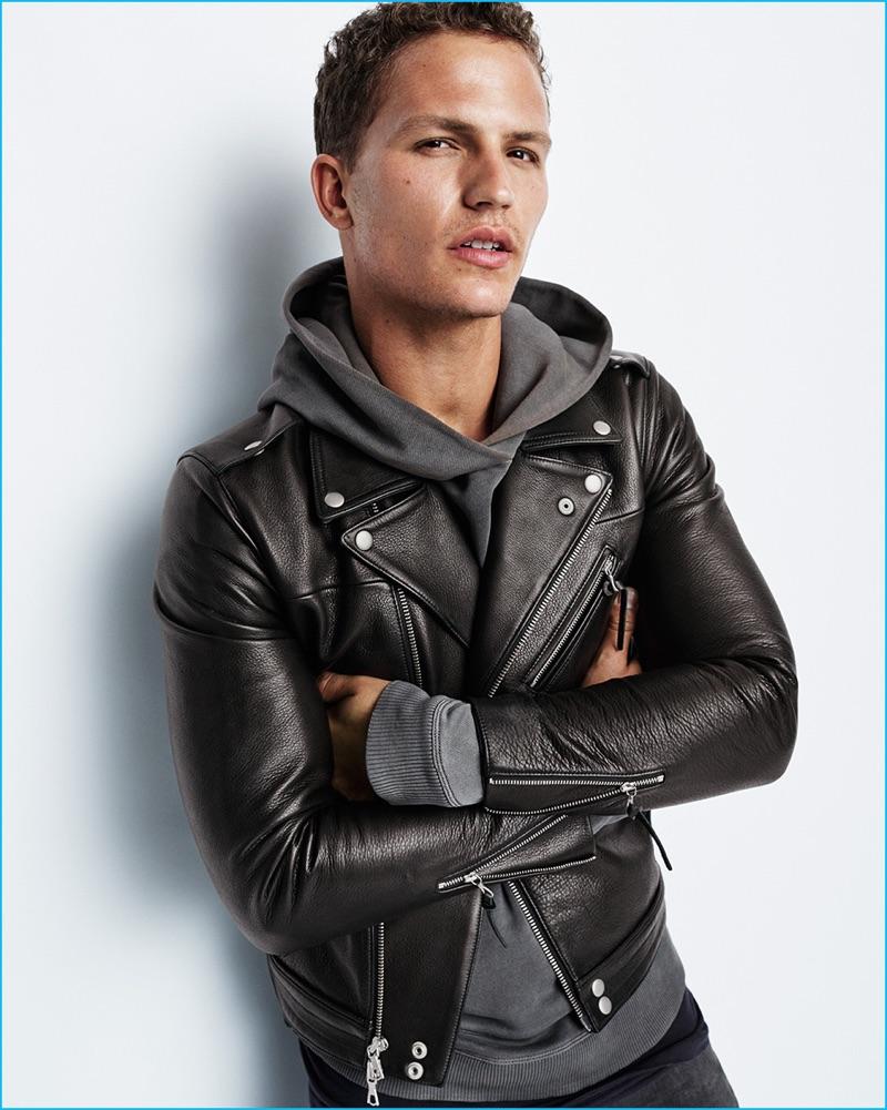 Nathaniel Visser wears John Elliott for Gap x GQ Best New Menswear Designers in America All-Stars collection.