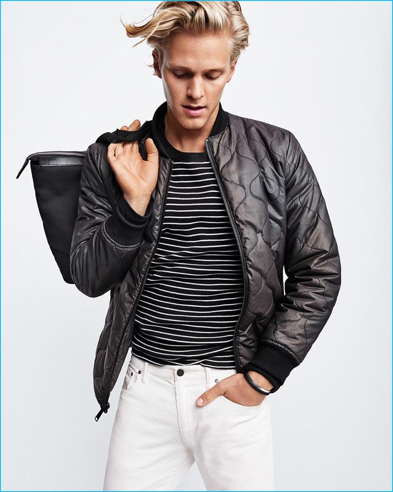 Clark Bockelman wears Saturdays NYC for Gap x GQ Best New Menswear Designers in America All-Stars collection.