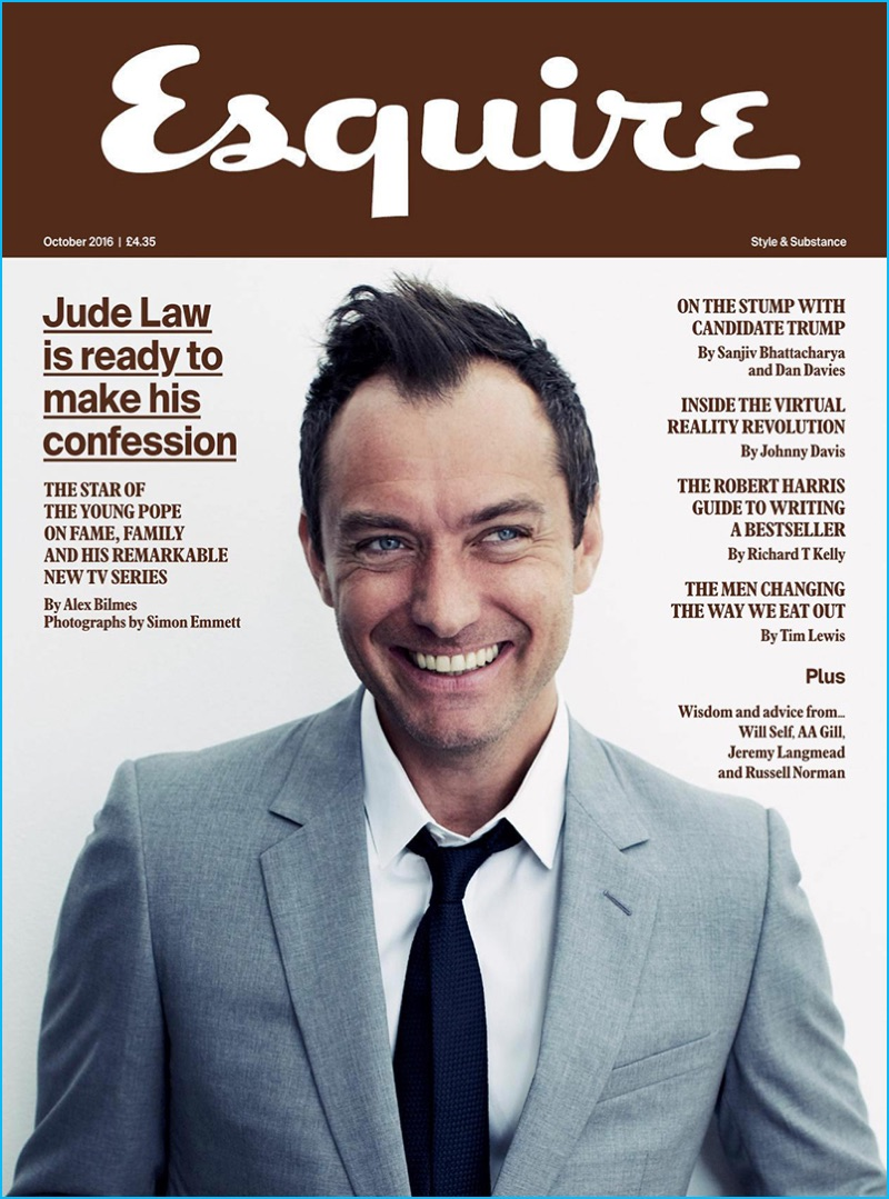Jude Law Covers Esquire UK, Talks Confession & Absolution ...