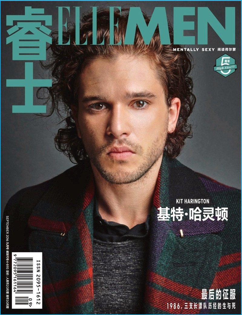 Kit Harington covers the September 2016 issue of Elle Men China.