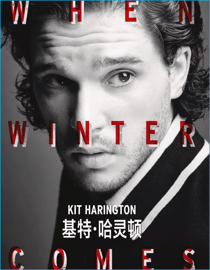 Kit Harington photographed by Nigel Parry for Elle Men China.