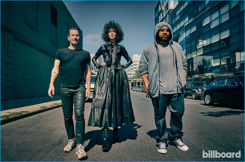 Marc Jacobs and St. Vincent photographed alongside music video director Hype Williams for Billboard.
