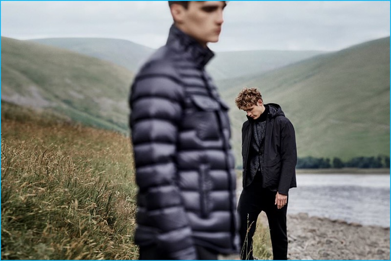 b9afd9e270c Men's Down Jackets (Left to Right): Moncler Forbin Quilted Shell Down Jacket  and