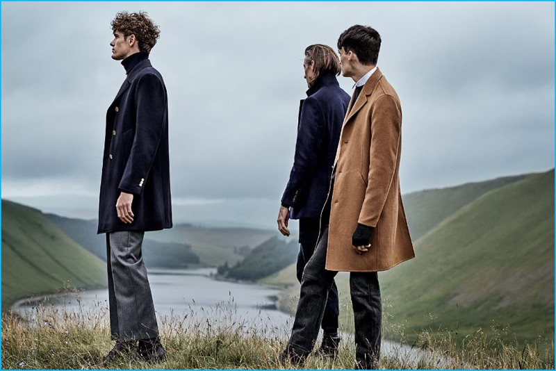 cb8fe25bd13 ... 2016 Outerwear from Mr Porter. Overcoat Grace (Left to Right): Thom  Browne Double-Breasted Melton Wool Peacoat