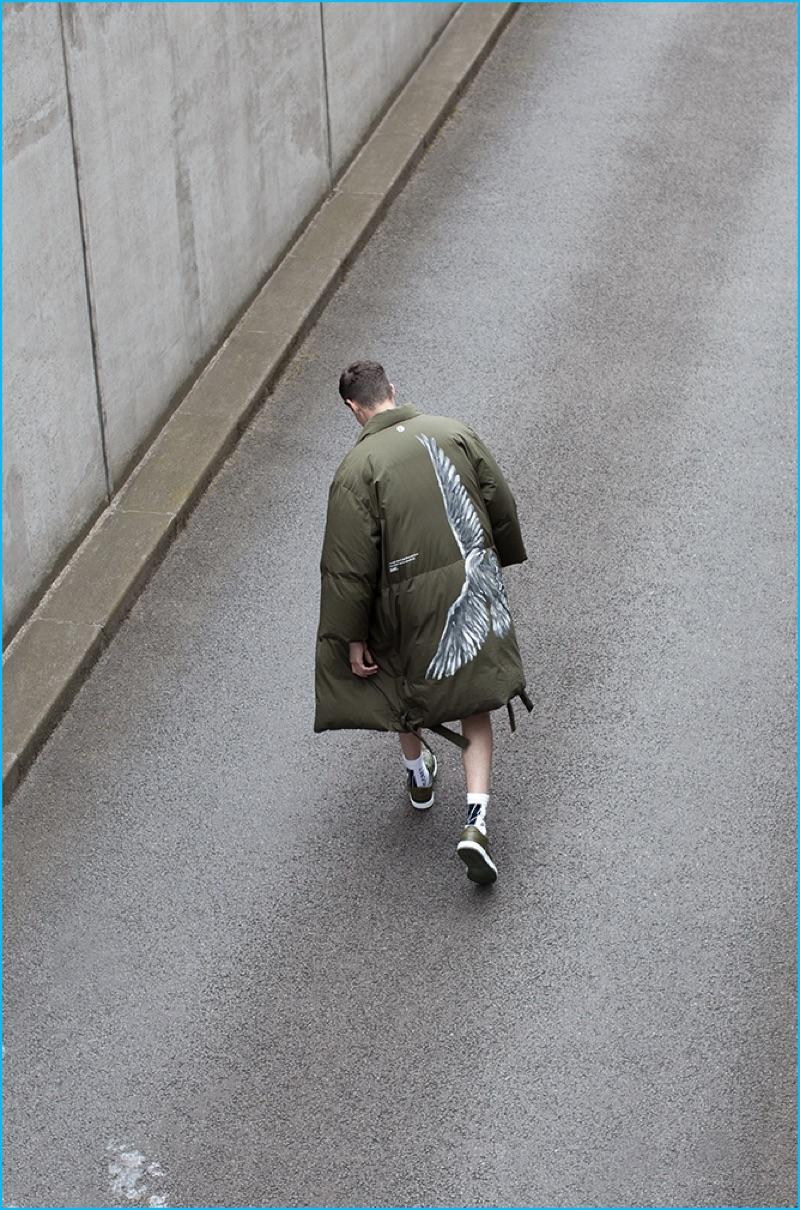 Jos Whiteman wears down officer jacket OAMC.