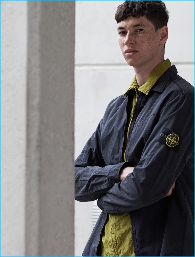 Jos Whiteman wears overshirts Stone Island.