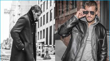 Parker Hurley Tackles the Big Apple in Andrew Marc's Fall Collection