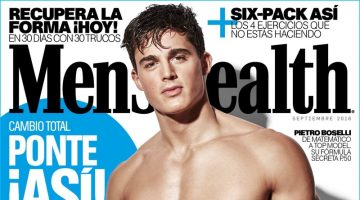 Pietro Boselli Flaunts His Six-Pack for 2 Editions of Men's Health