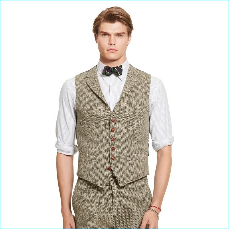 Polo Ralph Lauren Herringbone Notched Lapel Vest
