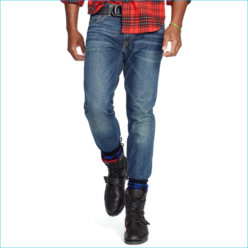 Polo Ralph Lauren Slim Straight Distressed Denim Jeans