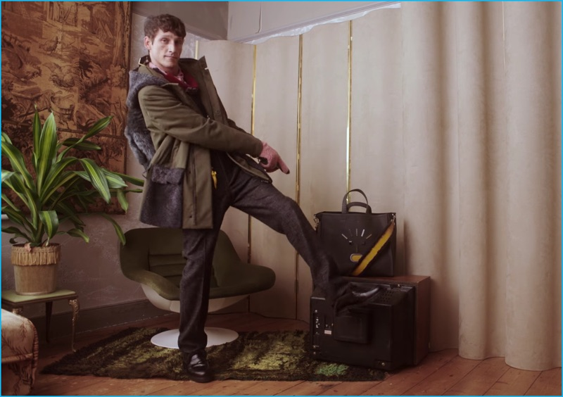 Roch Barbot shows off his best dance moves as Fendi's fall-winter 2016 campaign star.