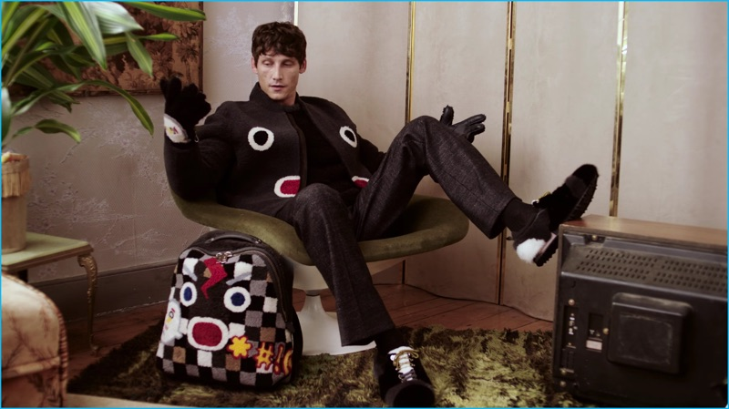 Roch Barbot finds himself in a fall-winter 2016 ensemble featuring a Fendi face.