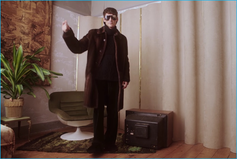 Roch Barbot embraces Fendi's quirky attitude, dancing in the brand's fall-winter 2016 campaign video.