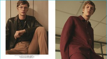 Secret Agent: Tim Schuhmacher Dons Luxe Fall Fashions for L'Express Styles