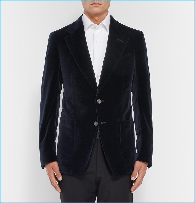 Tom Ford Blue Velvet Tuxedo Jacket