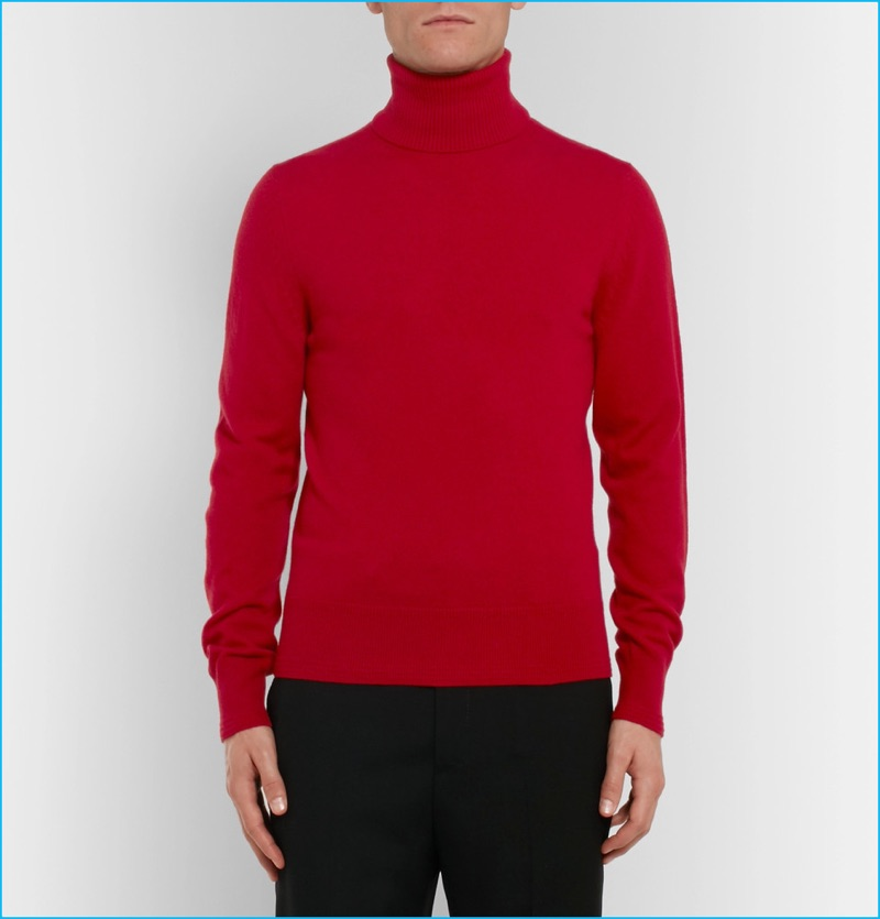 Tom Ford Red Cashmere Turtleneck Sweater