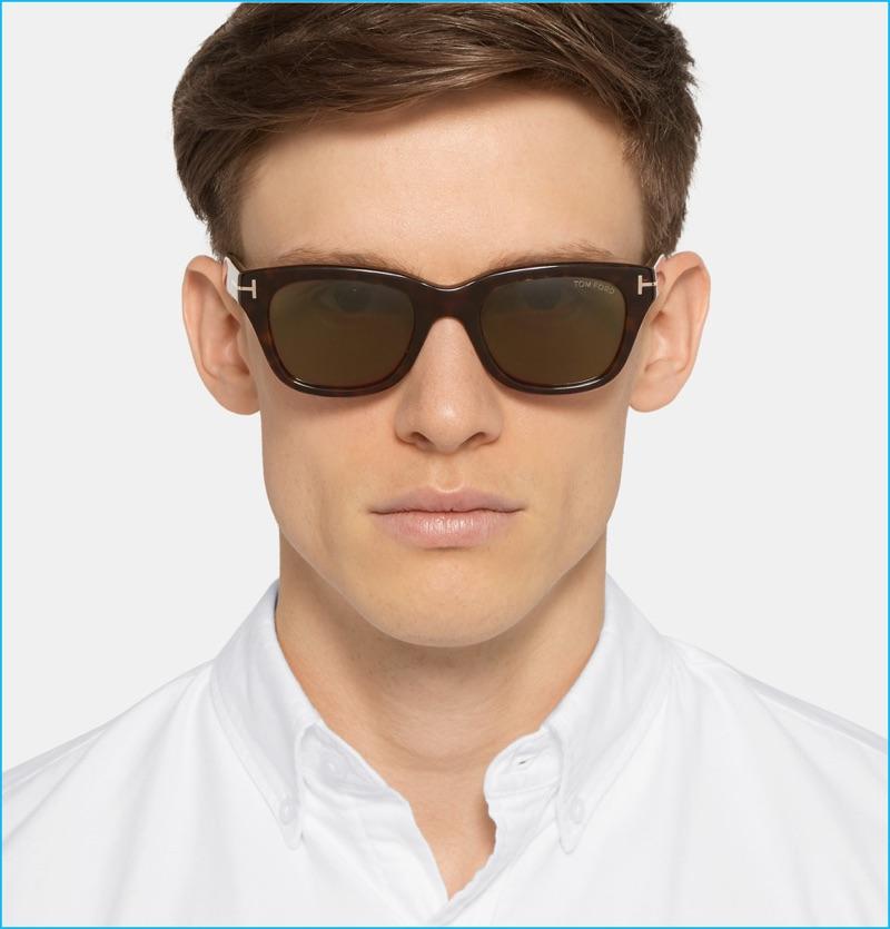 Tom Ford Snowden Tortoiseshell Sunglasses