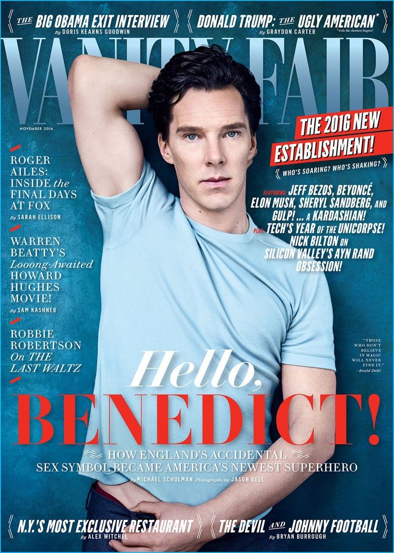 Benedict Cumberbatch covers the November 2016 issue of Vanity Fair.