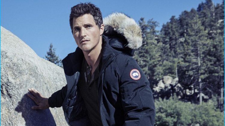 The Big Chill: Ollie Edwards Models Rugged Styles from Bloomingdale's