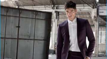 Evandro Soldati Dons Trim Suits for Playboy Brasil