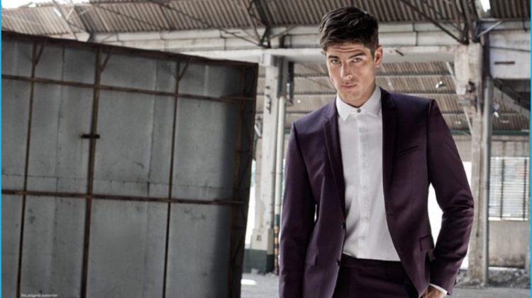 Evandro Soldati Dons Trim Suits for Playboy Brasil