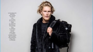 Harry Goodwins Dons Winter Styles for Playboy Germany