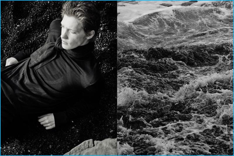 Hermès enlists model Liviu Scortanu to star in an editorial for Le Monde d'Hermès.