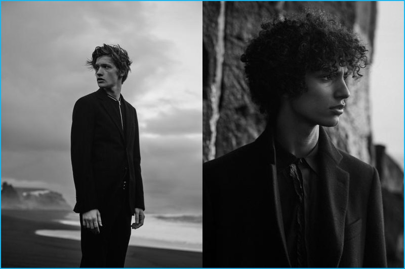 Liviu Scortanu and Tre Samuels don fall tailoring for Le Monde d'Hermès.
