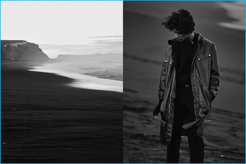 Beat Bolliger styles model Tre Samuels for Le Monde d'Hermès.
