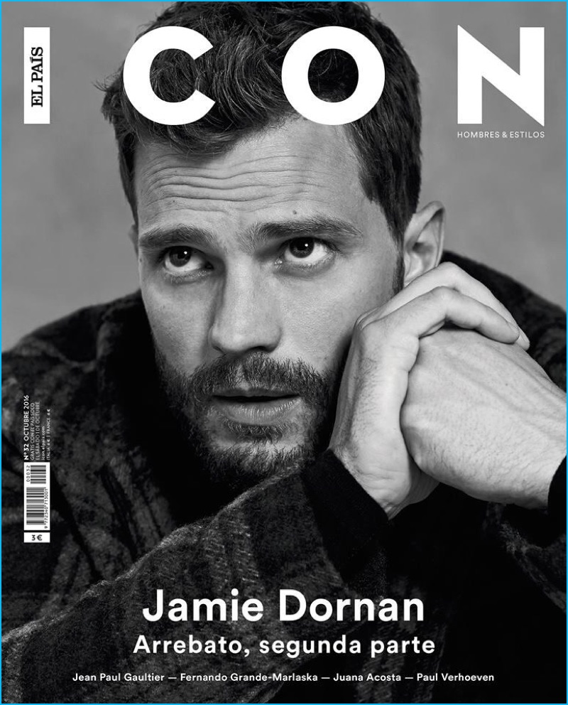 Jamie Dornan covers the October 2016 issue of Icon El País.