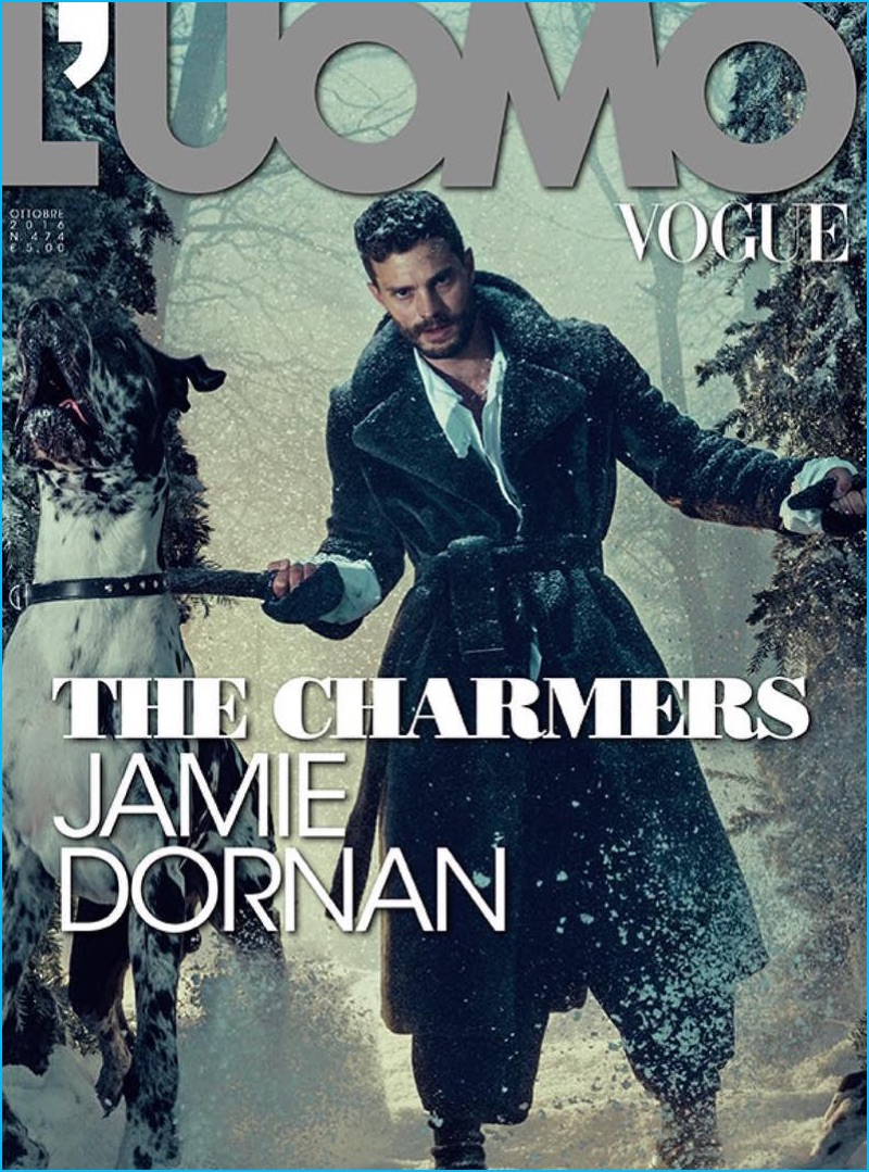 Jamie Dornan covers the October 2016 issue of L'Uomo Vogue.