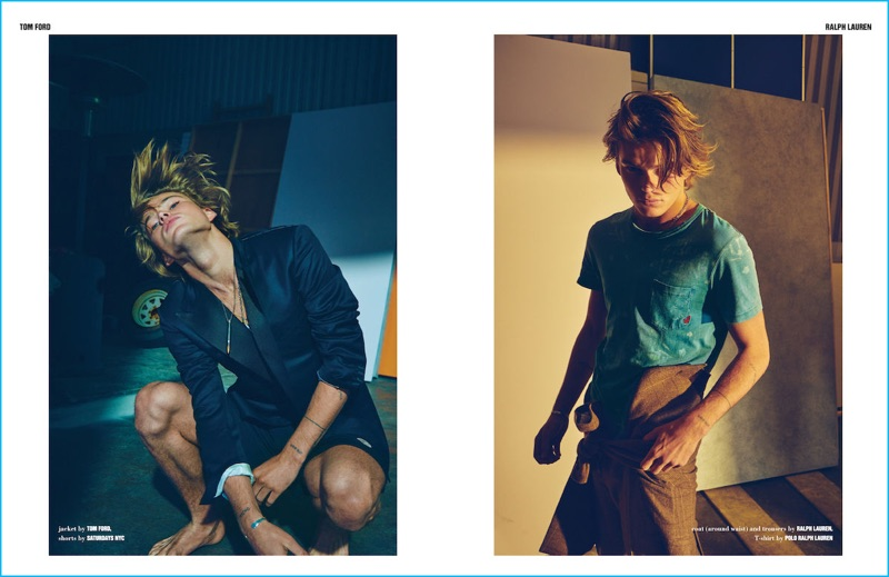 Exuding a youthful charm, Jordan Barrett is front and center in brands such as Tom Ford and Ralph Lauren.
