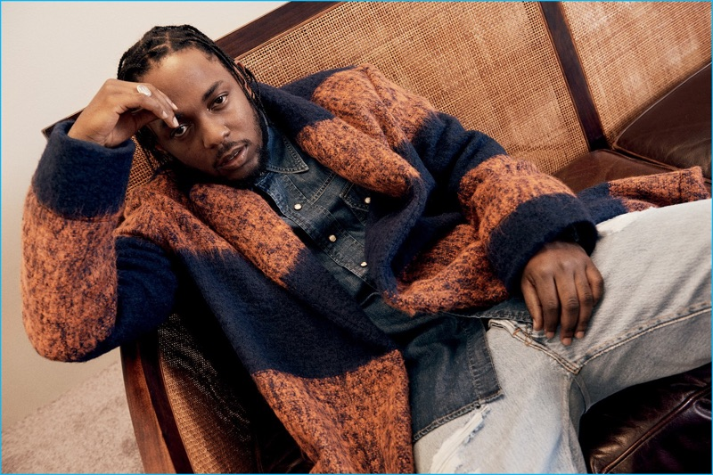 GQ Style enlists Kendrick Lamar for an outerwear shoot, featuring a statement coat from MP Massimo Piombo.