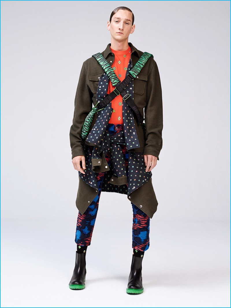 Mixing various prints and colors, Kenzo creates its own idea of a tribe for its H&M collaboration.