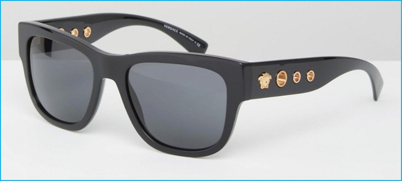 Versace Square Sunglasses with Side Detail