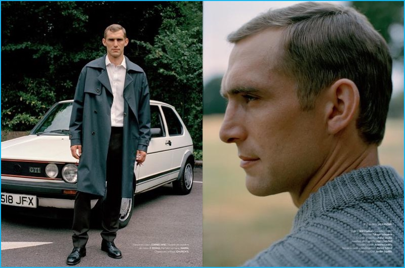 Olgaç Bozalp photographs Will Chalker in pieces from Z Zegna, Corneliani, and more for L'Officiel Hommes.