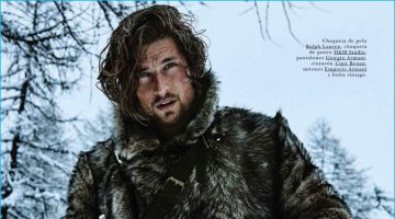 The Revenant: Wouter Peelen Sports Leather & Fur Fashions for GQ España