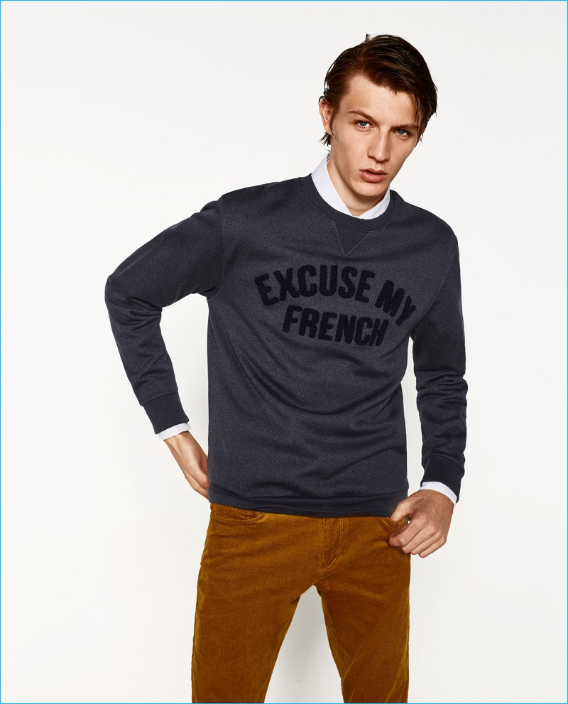 271949ef Polo Long Sleeve T Shirts Mens Zara   Saddha