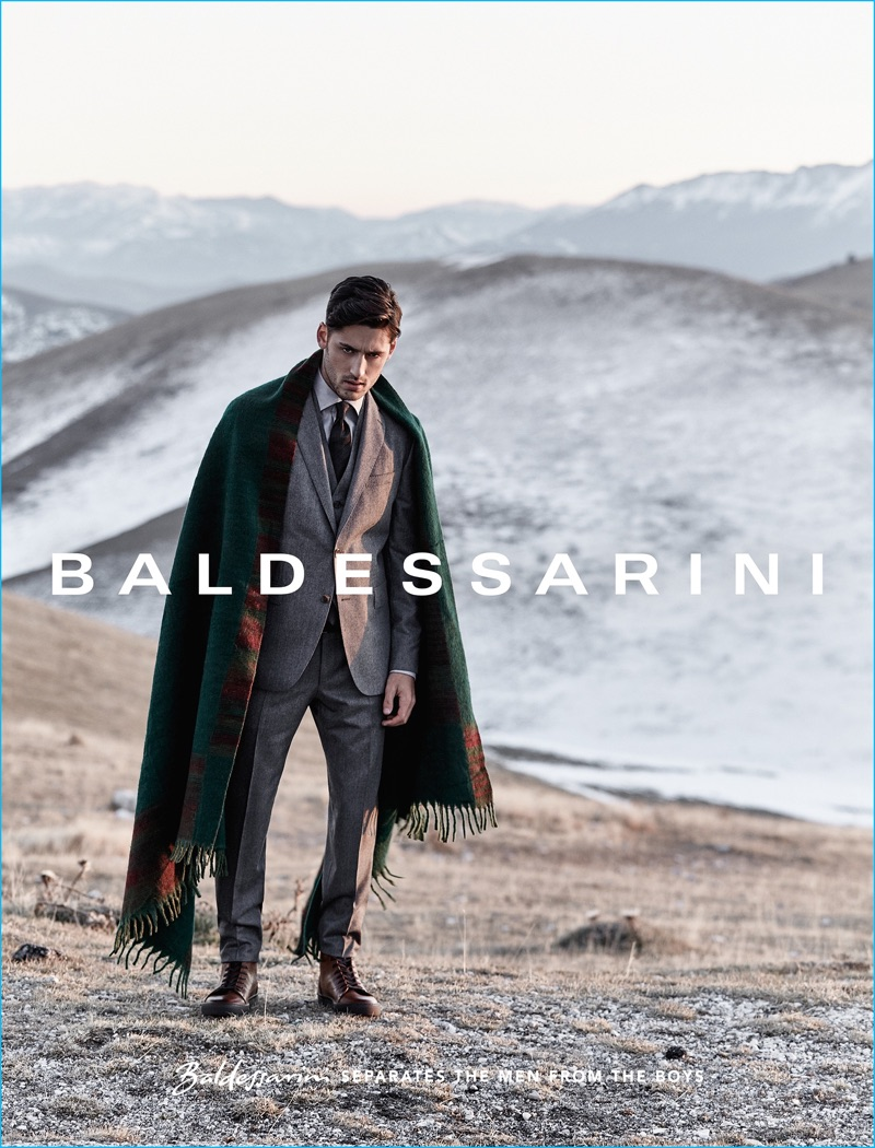 Thomas Kettner photographs Carlos Ferra for Baldessarini's fall-winter 2016 campaign.