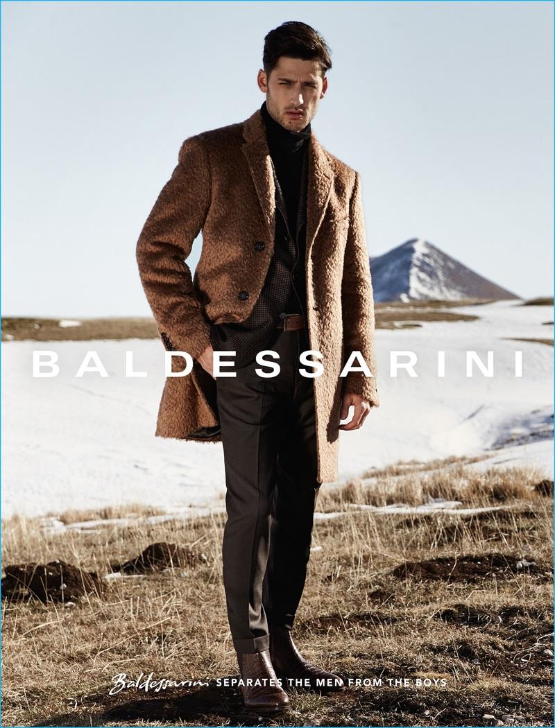 Carlos Ferra stars in Baldessarini's fall-winter 2016 campaign.
