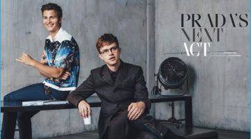 Ansel Elgort & Dane DeHaan Don Prada Fashions for British GQ