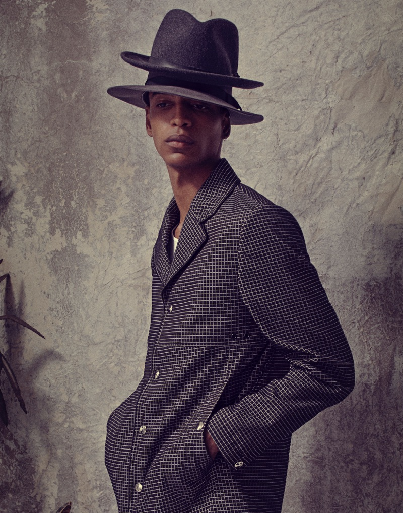 Darron wears coat Tim Coppens and hats Stetson.