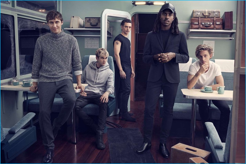 Sebastien Andrieu, Gabriel-Kane Day-Lewis, Sergei Polunin, Dev Hynes, and Ben Nordberg come together for H&M's latest style outing.