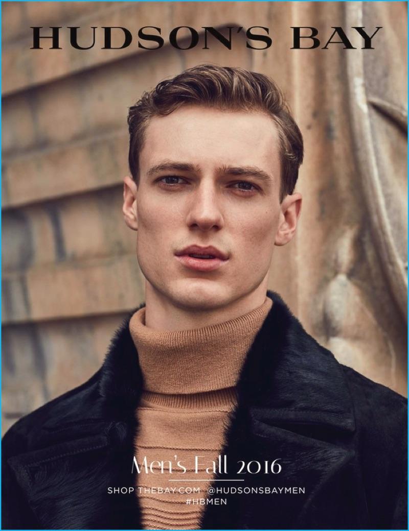 Tommaso de Benedictis covers Hudson's Bay fall 2016 men's catalogue.