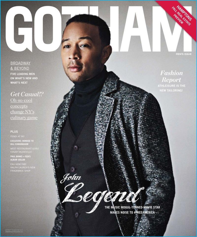 John Legend covers the men's fashion issue of Gotham magazine.