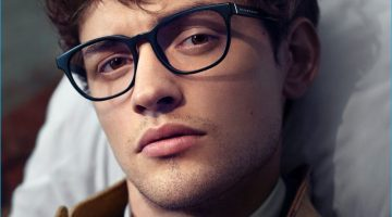 cd5dbcd6380 Josh Whitehouse Charms in Mr. Burberry Eyewear Campaign